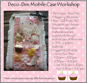 Jewelry Making: Mobile Phone Case Decoden Workshop