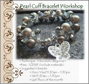 Jewellery Making Course : Make a Pearl Cuff Bracelet