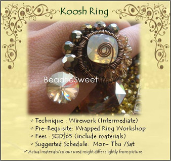 Jewelry Making: Koosh Ring Workshop