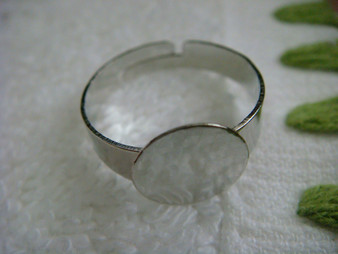 Ring Base Finding (White Gold Plated)