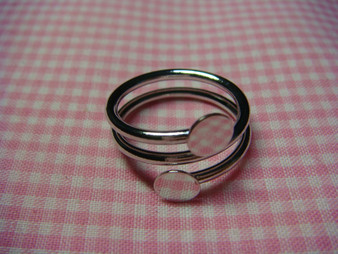 Spiral Ring with  6mm ring base