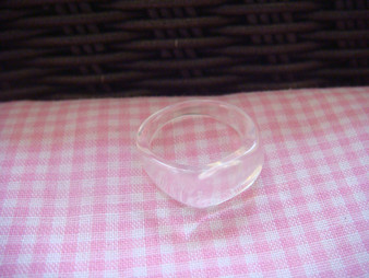 Small Acrylic Ring Finding (Clear)