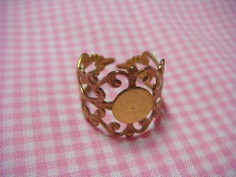 Brass Vintage Ring Base