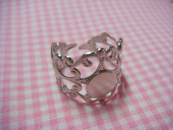 Vintage Ring with 8mm Base Plate