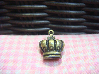 Antique Brass Crown Finding