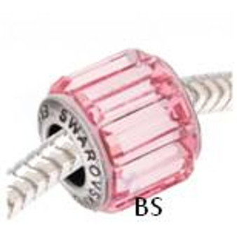 Swarovski BeCharmed Pave Bead 80301 Light Rose