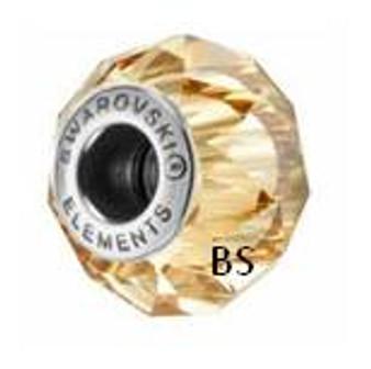 Swarovski BeCharmed Bead 5948 Crystal Golden Shadow