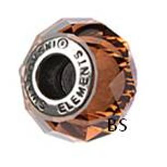 Swarovski BeCharmed Bead 5948 Smoked Topaz