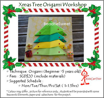 Kids Workshop: Xmas Tree Origami Workshop