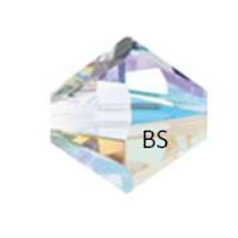 4mm Swarovski 5328 Crystal AB Bicone Bead