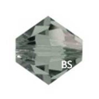 3mm Swarovski 5328 Black Diamond Bicone Bead