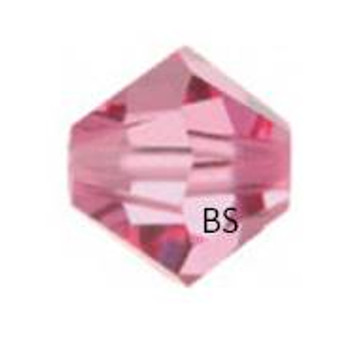 4mm Swarovski 5328 Rose Bicone Bead