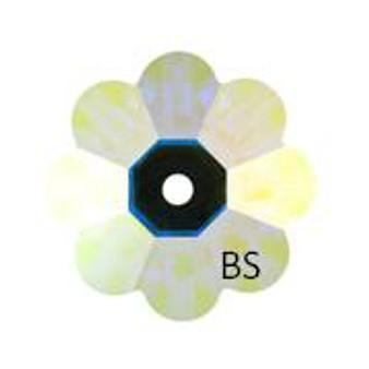 6mm Swarovski 3700 Crystal AB Foiled Margarita Bead