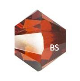 5mm Swarovski 5328 Crystal Red Magma Bicone Bead