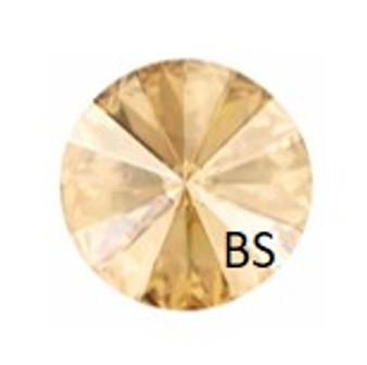 8mm Swarovski 1122 Crystal Golden Shadow Rivoli (ss39)