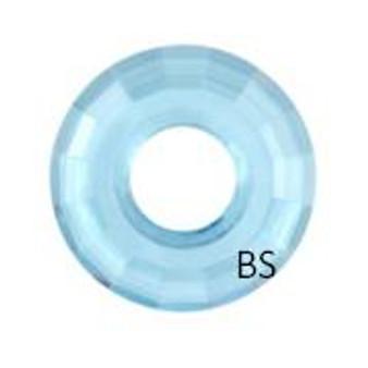 25mm Swarovski 6039 Aquamarine Disk Pendant