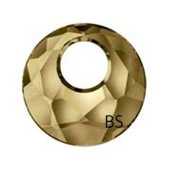 18mm Swarovski 6041 Crystal Golden Shadow Pendant