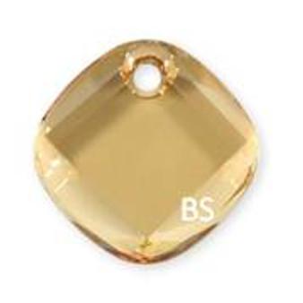 18mm Swarovski 6058 Crystal Golden Shadow Metro Pendant