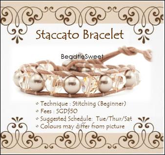 Jewelry Making Workshop : Staccato Bracelet Workshop