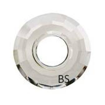 25mm Swarovski 6039 Crystal Silvershade Disk Pendant