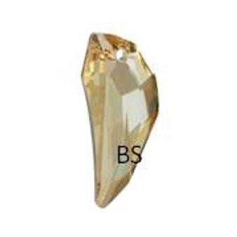 50mm Swarovski 6150 Crystal Golden Shadow Pegasus Pendant