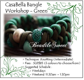 Jewelry Making Course : CasaBella Bangle Workshop - Green