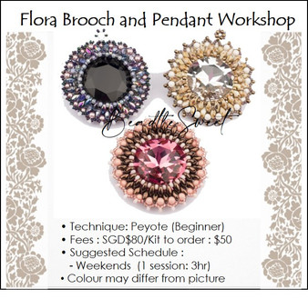 Jewelry Making Course : Flora Brooch and Pendant Workshop
