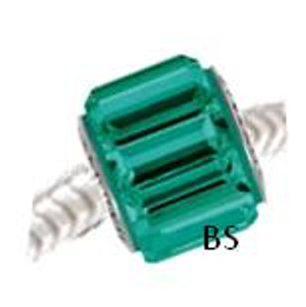 Swarovski BeCharmed Pave Bead 80301 Emerald