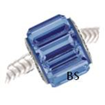 Swarovski BeCharmed Pave Bead 80301 Sapphire