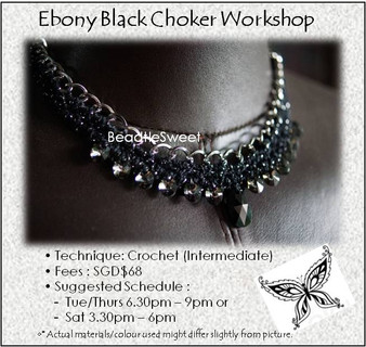 Jewelry Making Course : Ebony Black Choker Workshop