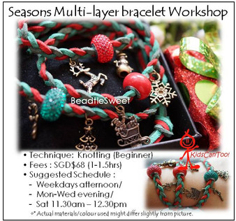 Jewelry Making Course : Seasons Multi-layer Bracelet Workshop