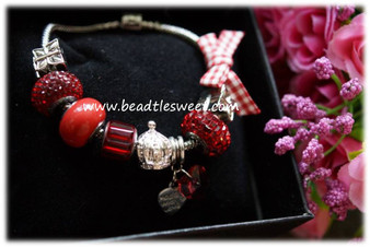 January Birthstone Bracelet using Siam Swarovski BeCharmed Beads