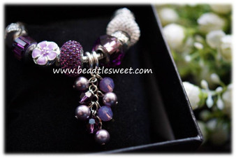 February Birthstone Bracelet using Amethyst Swarovski BeCharmed Beads