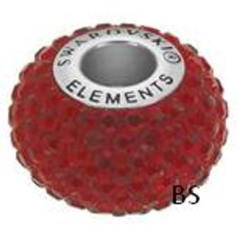 Swarovski BeCharmed Pave Bead 80101 Siam