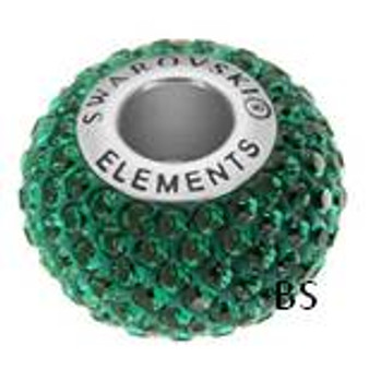 Swarovski BeCharmed Pave Bead 80101 Emerald