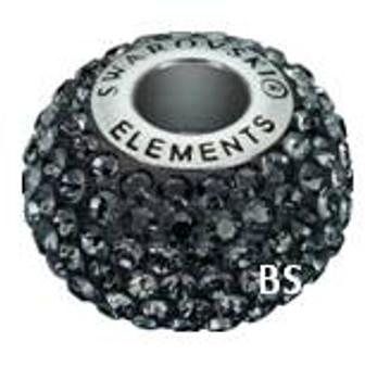 Swarovski BeCharmed Pave Bead 80101 Silver Night