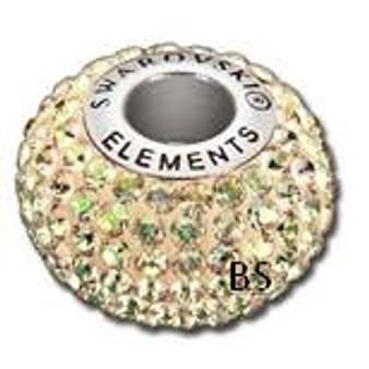 Swarovski BeCharmed Pave Bead 80101 Luminous Green