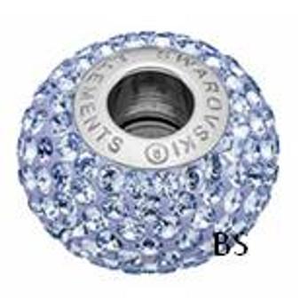Swarovski BeCharmed Pave Bead 80101 Light Sapphire