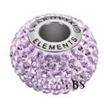 Swarovski BeCharmed Pave Bead 80101 Light Amethyst