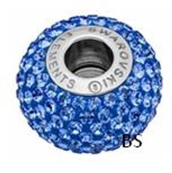 Swarovski BeCharmed Pave Bead 80101 Sapphire