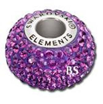 Swarovski BeCharmed Pave Bead 80101 Amehtyst