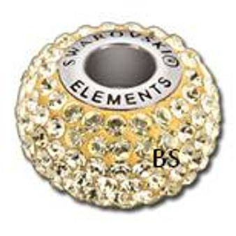 Swarovski BeCharmed Pave Bead 80101 Jonquil