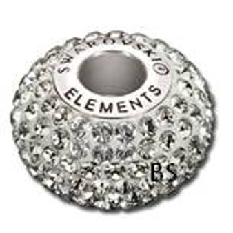 Swarovski BeCharmed Pave Bead 80101 Black Diamond