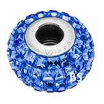 Swarovski BeCharmed Pave Bead 80201 Sapphire