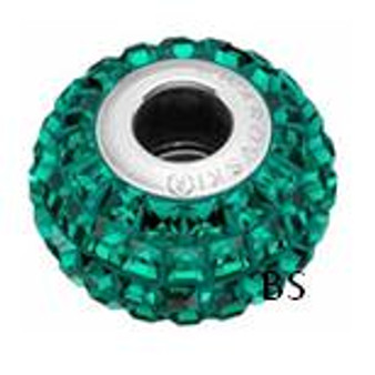 Swarovski BeCharmed Pave Bead 80201 Emerald
