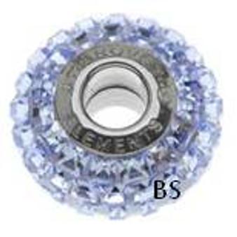 Swarovski BeCharmed Pave Bead 80201 Light Sapphire