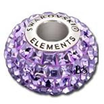 Swarovski BeCharmed Pave Bead 80201 Tanzanite