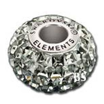 Swarovski BeCharmed Pave Bead 80201 Black Diamond