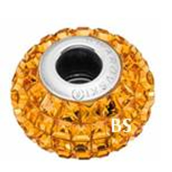 Swarovski BeCharmed Pave Bead 80201 Topaz