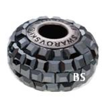 Swarovski BeCharmed Pave Bead 80201 Jet Hematite